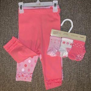 NWT Crazy 8 ruffle pants bundle